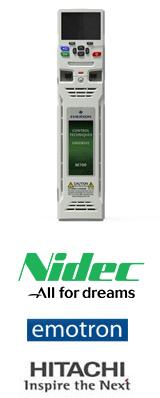 Frequenzumrichter von Nidec Control Techniques und Leroy Somer Drehstrommotoren