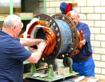 Montage und Instandsetzung Elektromotor deutschlandweit vor Ort